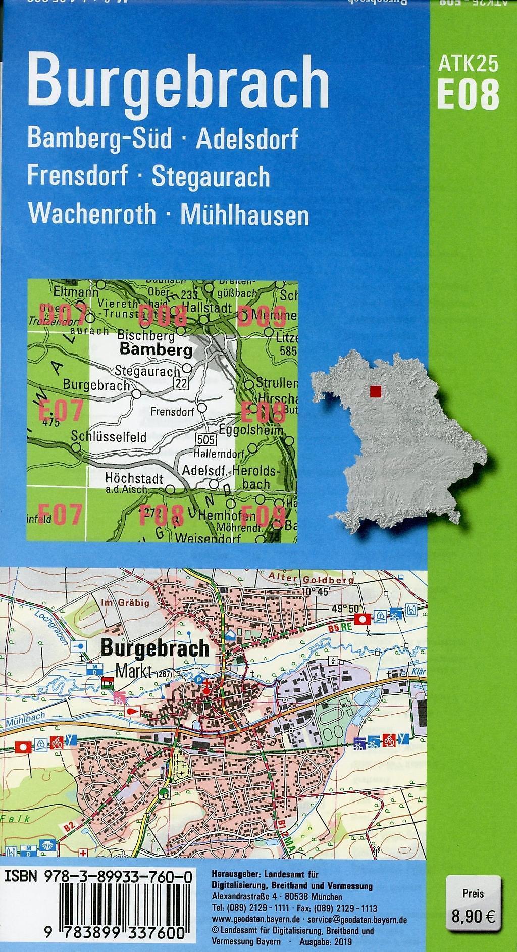 Topographische Karte Bayern.Amtliche Topographische Karte Bayern Burgebrach Buch Weltbild At