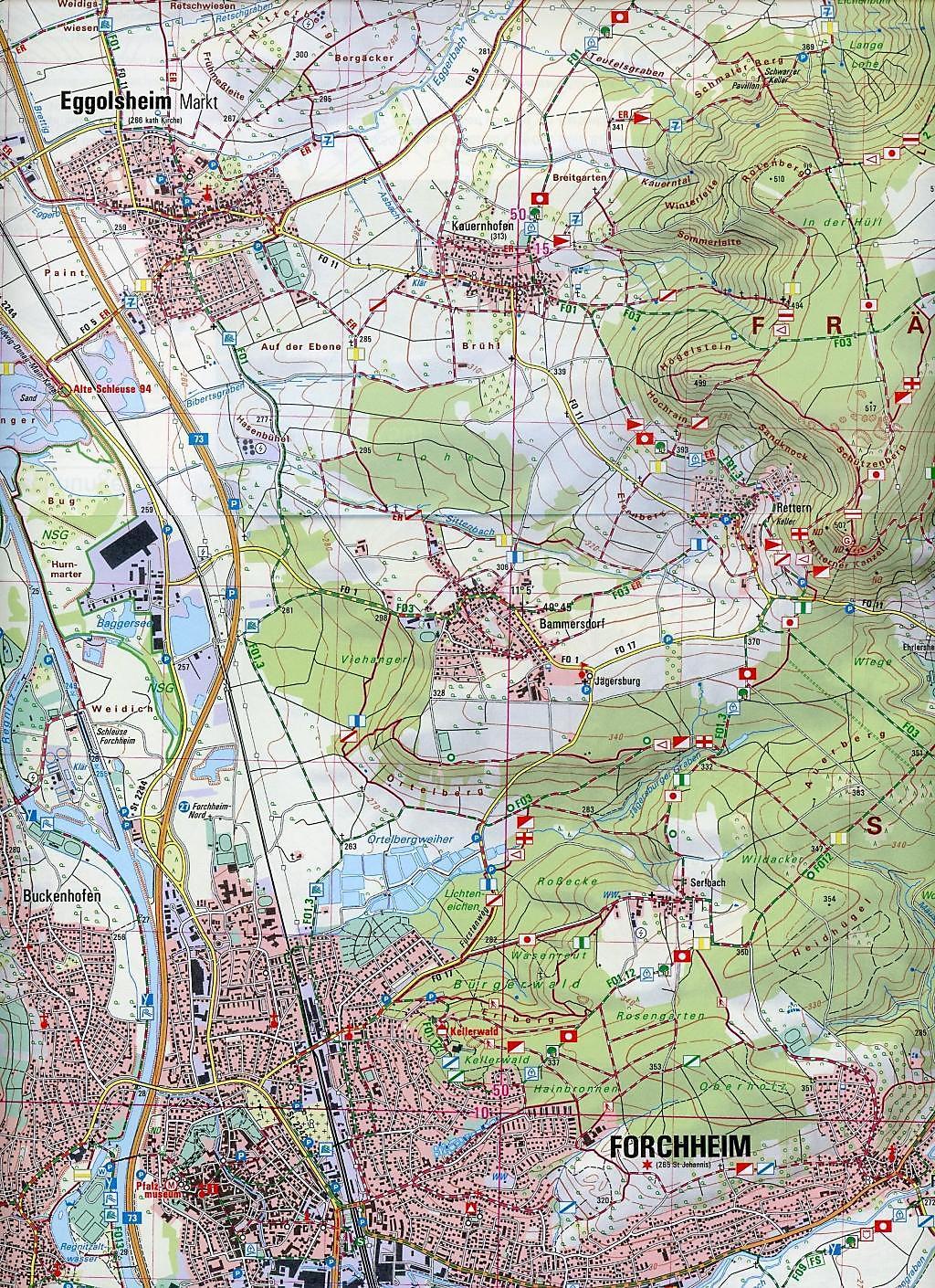 Topographische Karte Bayern.Amtliche Topographische Karte Bayern Forchheim Buch Weltbild De