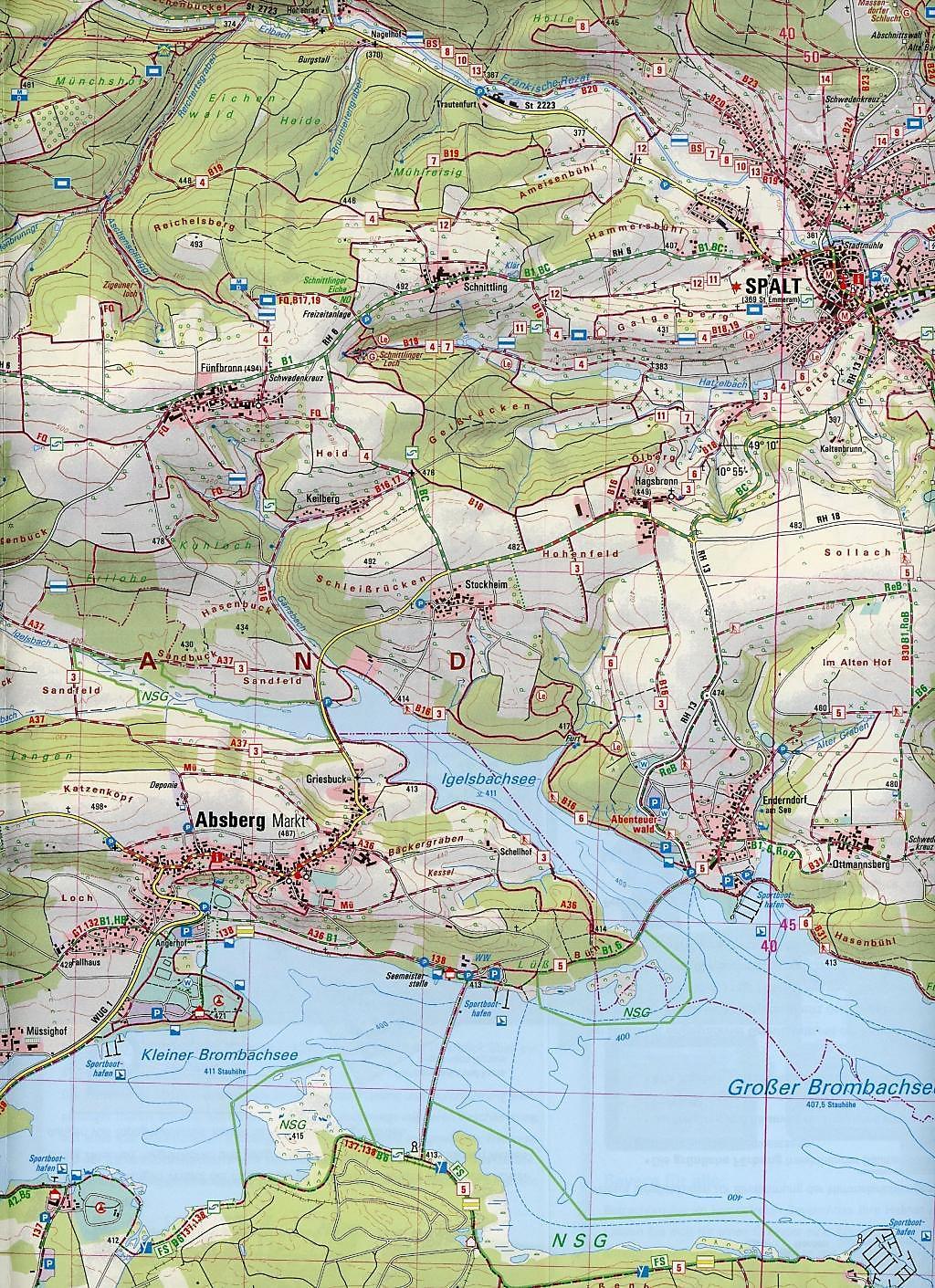 Topographische Karte Thüringen.Amtliche Topographische Karte Bayern Gunzenhausen Buch Weltbild De