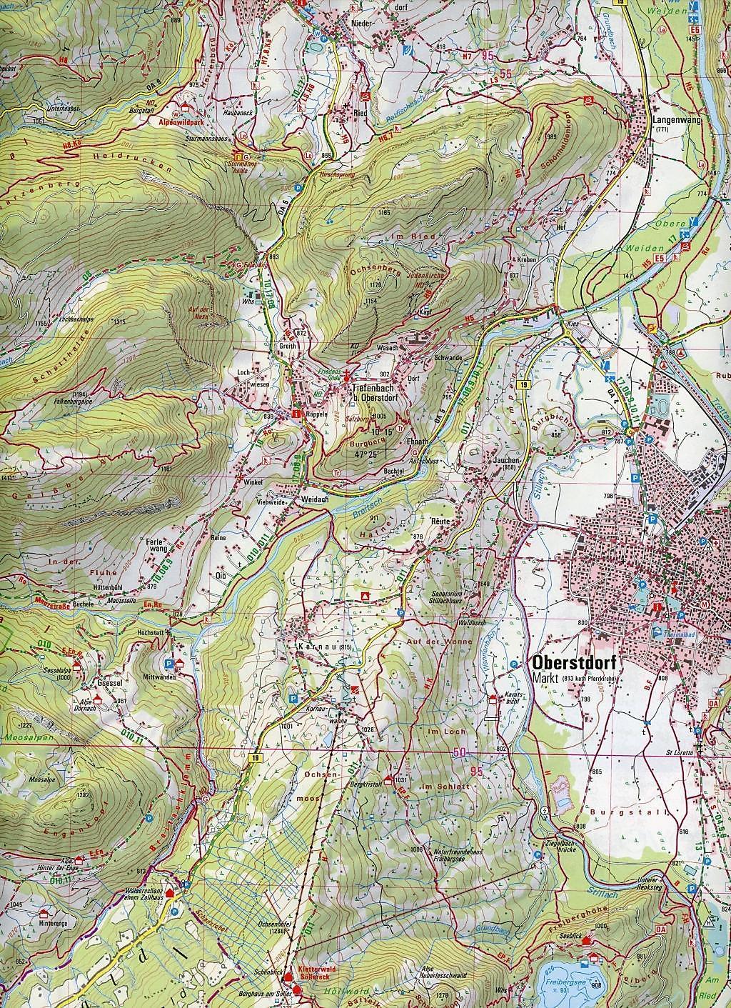 Topographische Karte Bayern.Amtliche Topographische Karte Bayern Hoher Ifen Buch Weltbild De