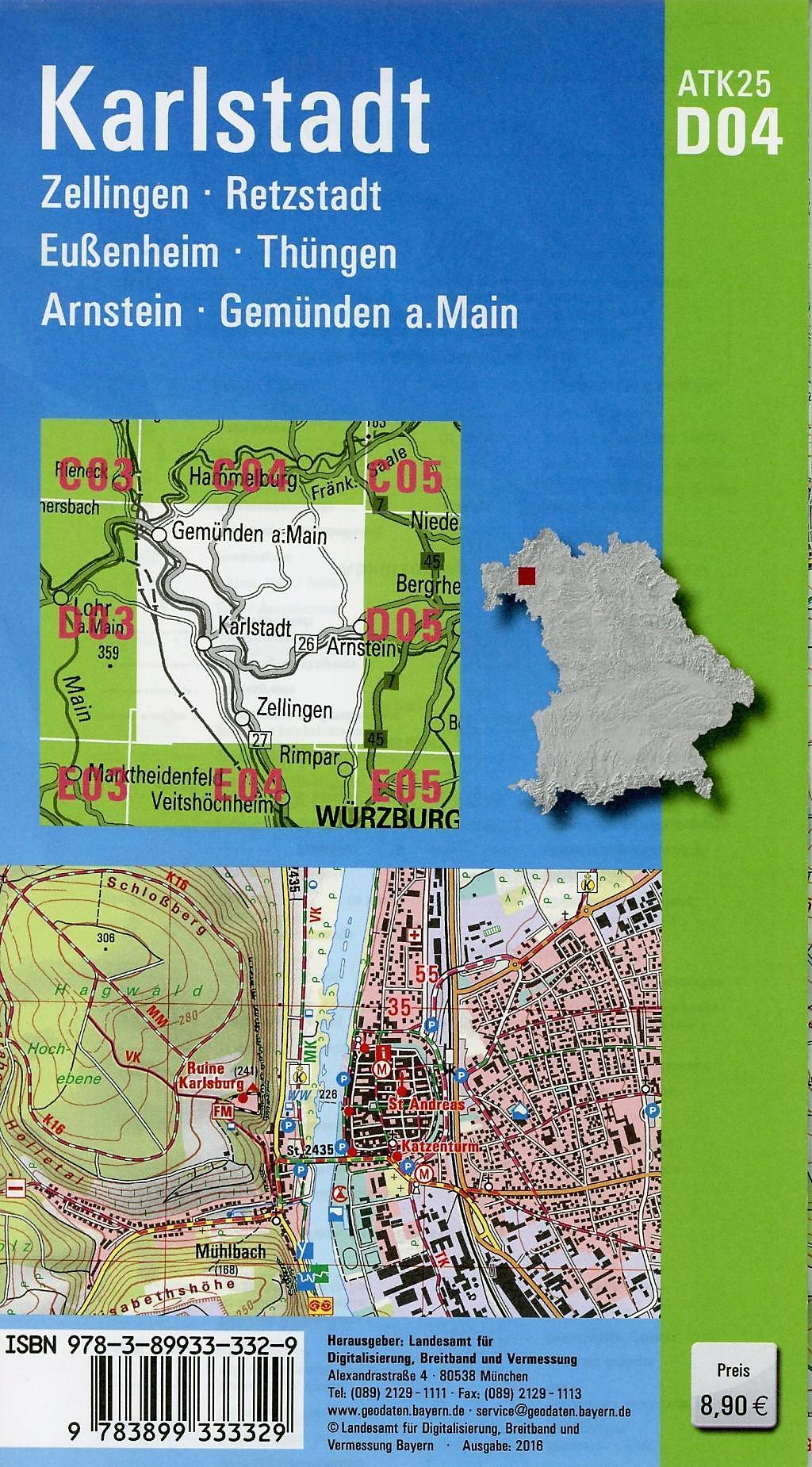 Topographische Karte Bayern.Amtliche Topographische Karte Bayern Karlstadt Buch Weltbild De