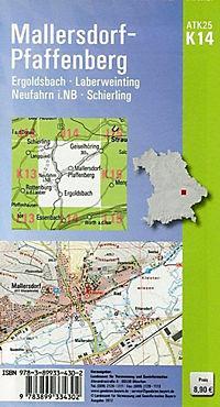 Amtliche Topographische Karte Bayern Mallersdorf-Pfaffenberg - Produktdetailbild 1