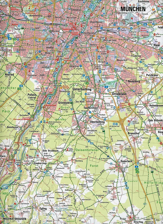München Karte Bayern.Amtliche Topographische Karte Bayern München Süd Buch Weltbild At