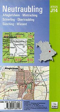 Amtliche Topographische Karte Bayern Neutraubling - Produktdetailbild 1