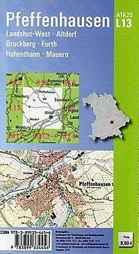 Amtliche Topographische Karte Bayern Pfeffenhausen - Produktdetailbild 1