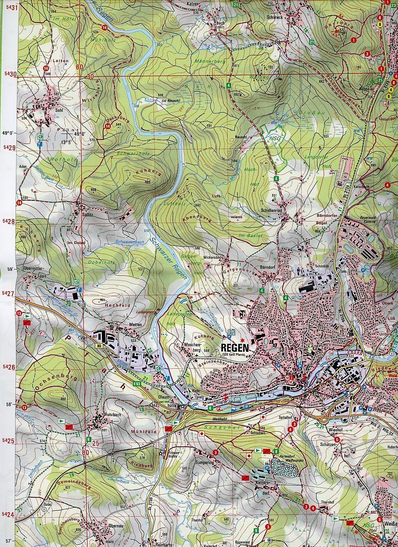 Topographische Karte Bayern.Amtliche Topographische Karte Bayern Regen Buch Weltbild De