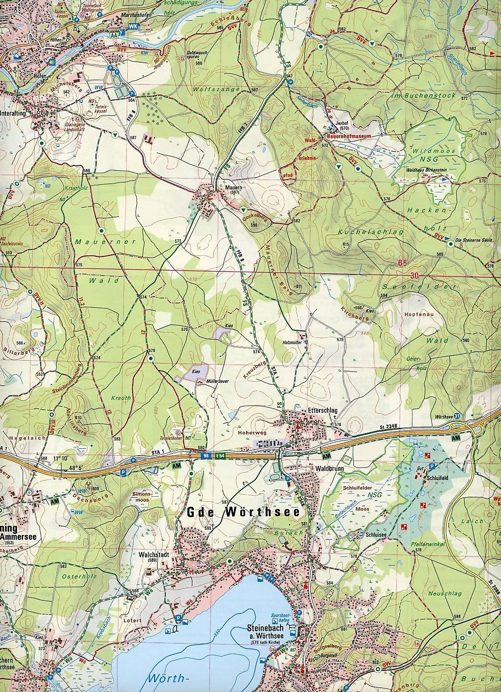 Topographische Karte Thüringen.Amtliche Topographische Karte Bayern Starnberg Buch Weltbild At
