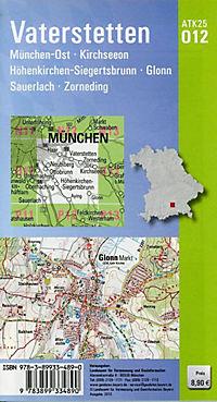 Amtliche Topographische Karte Bayern Vaterstetten - Produktdetailbild 1