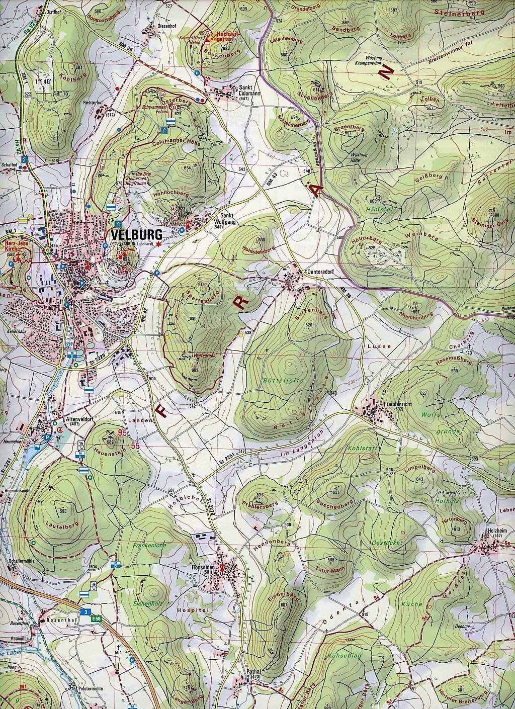 Topographische Karte Bayern.Amtliche Topographische Karte Bayern Velburg Buch Weltbild Ch