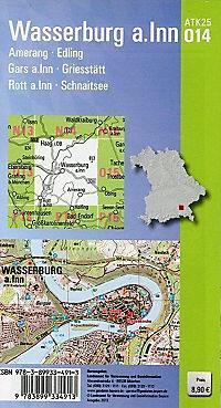 Amtliche Topographische Karte Bayern Wasserburg a.Inn - Produktdetailbild 1
