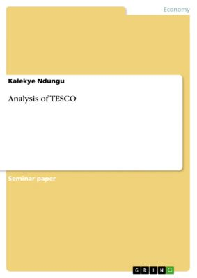 Analysis of TESCO, Kalekye Ndungu