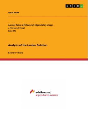 Analysis of the Landau Solution, Jonas Sauer