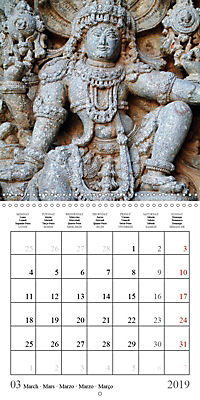 Ancient Indian Art (Wall Calendar 2019 300 × 300 mm Square) - Produktdetailbild 3