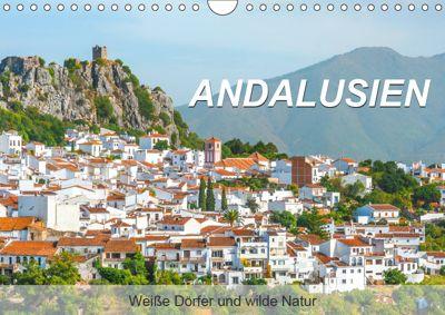 Andalusien - Weisse Dörfer und wilde Natur (Wandkalender 2019 DIN A4 quer), Jürgen Feuerer
