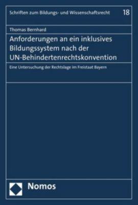 Anforderungen an ein inklusives Bildungssystem nach der UN-Behindertenrechtskonvention, Thomas Bernhard