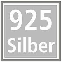 Anhänger Ginkgoblatt bicolor mit Zirkonia, 925 Silber - Produktdetailbild 1