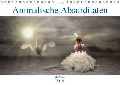 Animalische Absurditäten mit Planer (Wandkalender 2019 DIN A4 quer), Garrulus glandarius