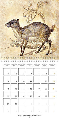 Animals inspired by Frank W. Benson (Wall Calendar 2019 300 × 300 mm Square) - Produktdetailbild 4