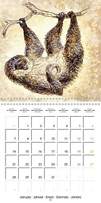 Animals inspired by Frank W. Benson (Wall Calendar 2019 300 × 300 mm Square) - Produktdetailbild 1