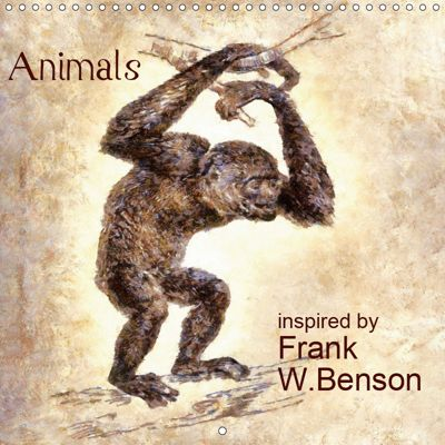 Animals inspired by Frank W. Benson (Wall Calendar 2019 300 × 300 mm Square), Mathias Bleckmann