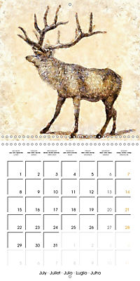 Animals inspired by Frank W. Benson (Wall Calendar 2019 300 × 300 mm Square) - Produktdetailbild 7