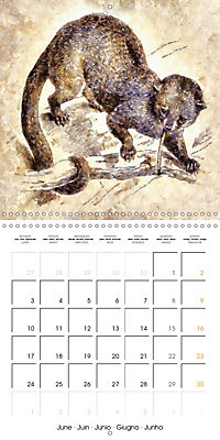 Animals inspired by Frank W. Benson (Wall Calendar 2019 300 × 300 mm Square) - Produktdetailbild 6