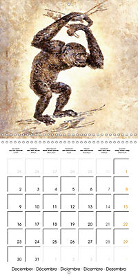 Animals inspired by Frank W. Benson (Wall Calendar 2019 300 × 300 mm Square) - Produktdetailbild 12