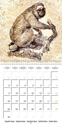 Animals inspired by Frank W. Benson (Wall Calendar 2019 300 × 300 mm Square) - Produktdetailbild 9