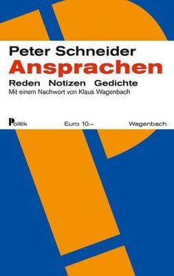Ansprachen - Peter Schneider |