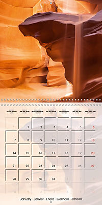 ANTELOPE CANYON Fascinating Views (Wall Calendar 2019 300 × 300 mm Square) - Produktdetailbild 1