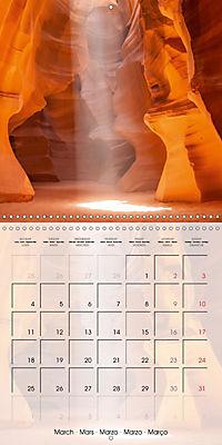 ANTELOPE CANYON Fascinating Views (Wall Calendar 2019 300 × 300 mm Square) - Produktdetailbild 3