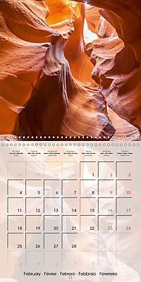 ANTELOPE CANYON Fascinating Views (Wall Calendar 2019 300 × 300 mm Square) - Produktdetailbild 2