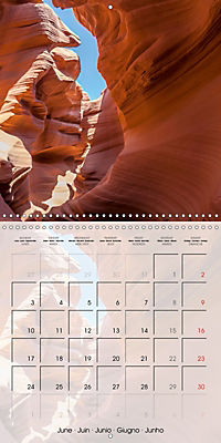 ANTELOPE CANYON Fascinating Views (Wall Calendar 2019 300 × 300 mm Square) - Produktdetailbild 6