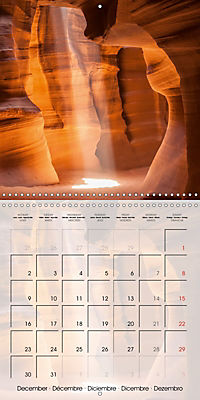 ANTELOPE CANYON Fascinating Views (Wall Calendar 2019 300 × 300 mm Square) - Produktdetailbild 12