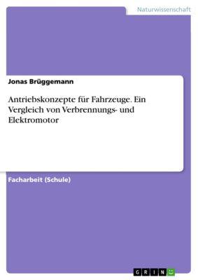 Antriebskonzepte für Fahrzeuge. Ein Vergleich von Verbrennungs- und Elektromotor, Jonas Brüggemann