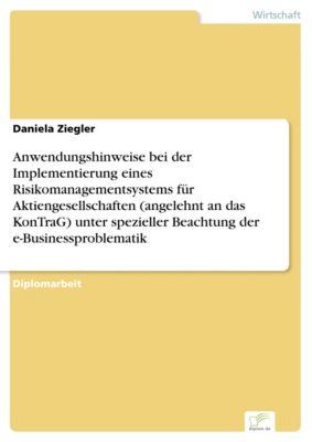 Anwendungshinweise bei der Implementierung eines Risikomanagementsystems für Aktiengesellschaften (angelehnt an das KonTraG) unter spezieller Beachtung der e-Businessproblematik, Daniela Ziegler