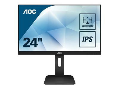 AOC X24P1 60,96cm 24Zoll display The 16:10 aspect ratio and 1920x1200 resolution sized 3-sides frameless