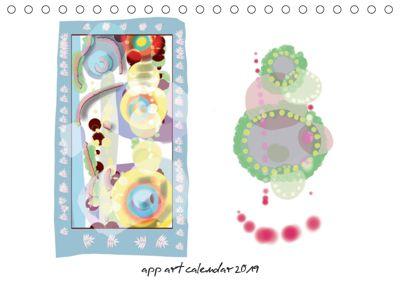 app art calendar 2019 (Tischkalender 2019 DIN A5 quer), Kay Strathus