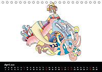 app art calendar 2019 (Tischkalender 2019 DIN A5 quer) - Produktdetailbild 4
