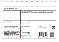 app art calendar 2019 (Tischkalender 2019 DIN A5 quer) - Produktdetailbild 13