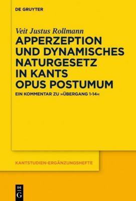 Apperzeption und dynamisches Naturgesetz in Kants Opus postumum, Veit Justus Rollmann