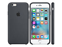 APPLE iPhone 6s Silicone Case Charcoal Gray - Produktdetailbild 1