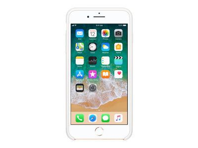APPLE iPhone 8 Plus / 7 Plus Silikon Tasche - Weiss