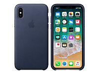 APPLE iPhone X Leather Case - Mitternachtsblau - Produktdetailbild 3