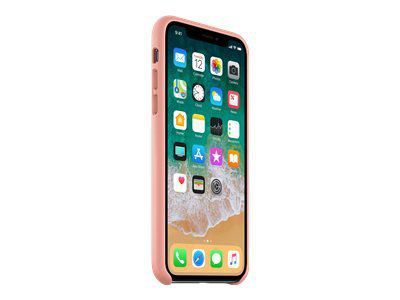 APPLE iPhone X Leder Case - Zartpink