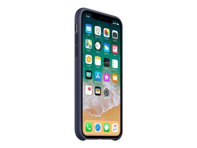 APPLE iPhone X Silikon Tasche - Mitternachtsblau