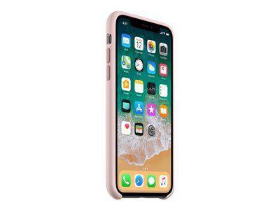 APPLE iPhone X Silikon Tasche - Pink Sand
