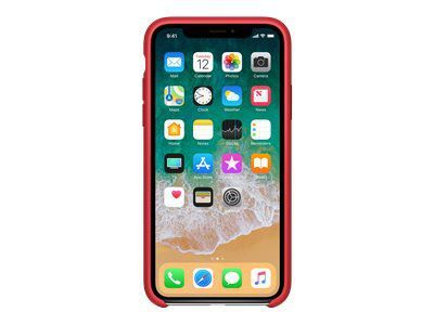 APPLE iPhone X Silikon Tasche - Rot