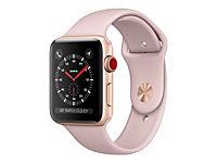 APPLE Watch Series 3 GPS + LTE 42mm Aluminiumgehäuse Gold - Sportarmband Sandrosa - Produktdetailbild 2