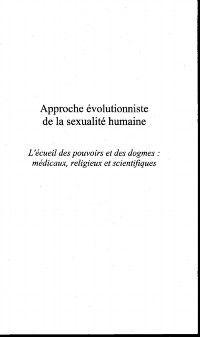 Approche evolutionniste de la sexualite humaine, MAUL ARMAND